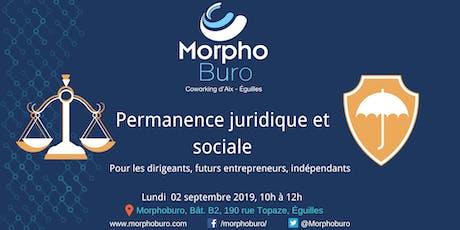 Permanence Juridique et Sociale pour dirigeants, entrepreneurs, indépendants tickets