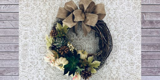 Living Fall Wreath Party