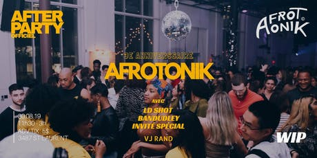 After Party Afrotonik au WIP tickets