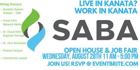 JOB FAIR & OPEN HOUSE - Saba Software tickets