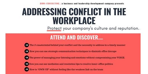 ADDRESSING CONFLICT IN THE WORKPLACE