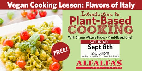 Vegan Cooking Lesson: Flavors of Italy tickets