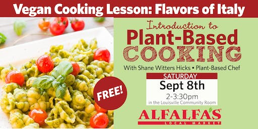 Vegan Cooking Lesson: Flavors of Italy