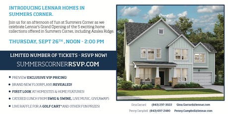 Summers Corner VIP Realtor Grand Opening tickets