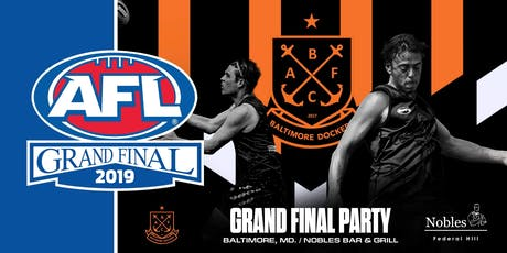 Baltimore Dockers 2019 Australian Rules Football Grand Final Party tickets