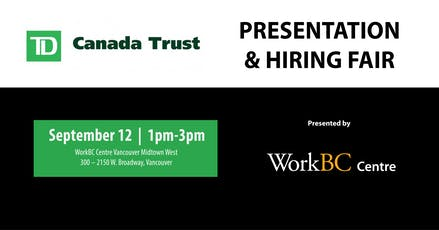 TD Bank Presentation & Hiring Fair tickets