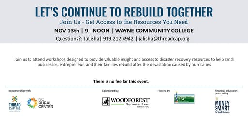 Let's Continue To Rebuild Together - Goldsboro