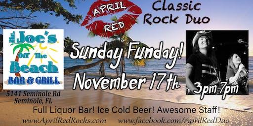 April Red Rockin' Sunday Funday at Mr. Joe's Off the Beach!