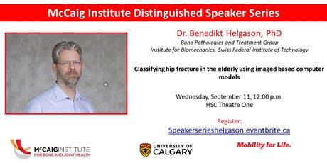 McCaig Institute Distinguished Speaker Series: Dr. Benedikt Helgason tickets