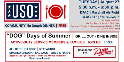 COMMUNITY No Dough DINNER | AUGUST 27