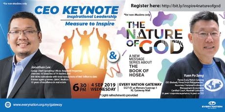CEO Keynote: Measure to Inspire & The Nature of God tickets
