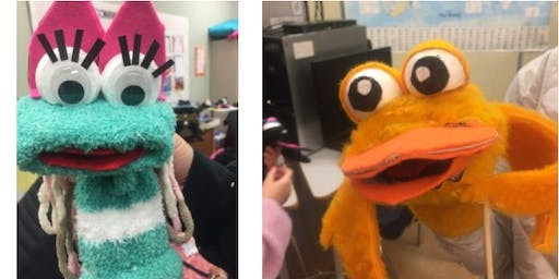 Sock Puppets with Kellie Haines at the Children's Art Festival