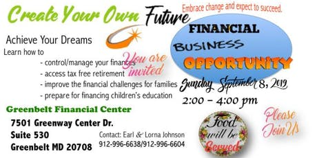 Financial Business Opportunity  tickets