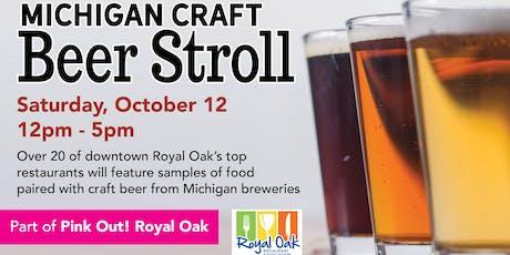 2019 Michigan Craft Beer Stroll tickets