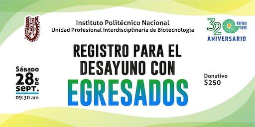 Pre-registro al Desayuno de Egresados UPIBI 2019