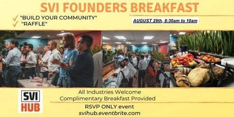 SVI Founders Breakfast tickets