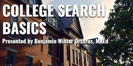 College Search Basics - Monticello tickets