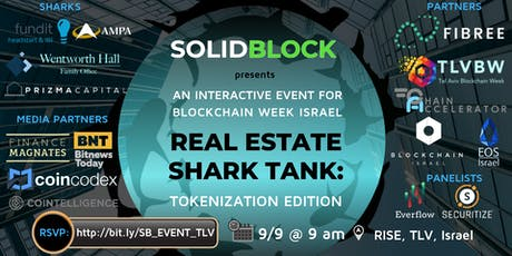 Real Estate Shark Tank: Tokenization Edition(Blockchain Week Israel Event) tickets
