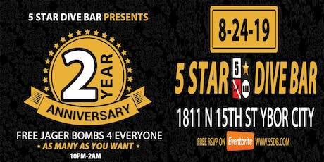 2 YEAR Anniversary Party - FREE JAGER FOR ALL - ALL NITE tickets