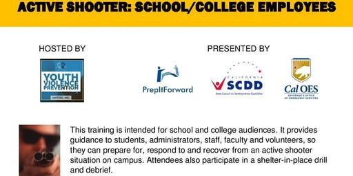 ACTIVE SHOOTER TRAINING: SCHOOL/COLLEGE  EMPLOYEES