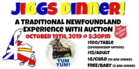 Jiggs Dinner - A traditional Newfoundland dinner with silent auction tickets