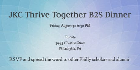 JKC Thrive Together Back to School Dinner tickets