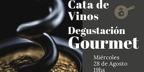 Cata de Vinos - Degustación Gourmet en La Tornería de Camila entradas