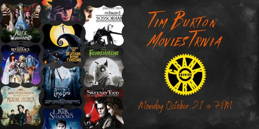 Tim Burton Movies Trivia at Crank Arm Brewing