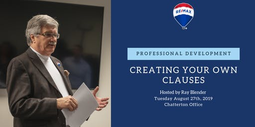 Professional Development - Creating your own Clauses