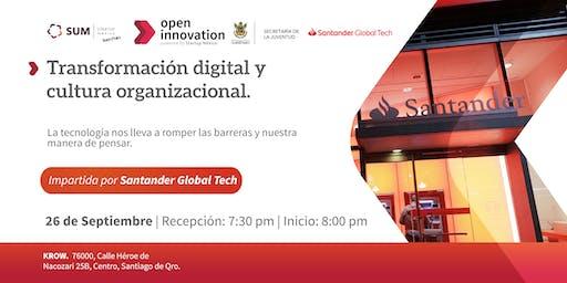 Transformación digital y cultura organizacional, impartida por SANTANDER GLOBAL TECH