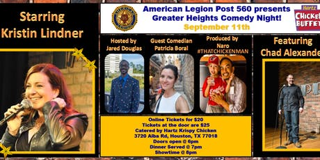 Greater Heights Comedy Night with Kristin Lindner tickets