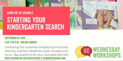 Starting Your Kindergarten Search