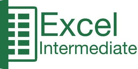 Intermediate Excel 2013 tickets