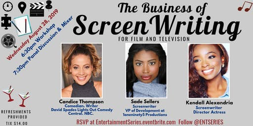 Screen Writing for Film & Television: Workshop & Panel Discussion