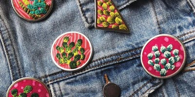 Wearable Embroidery: Learn to Stitch Your Own Pin