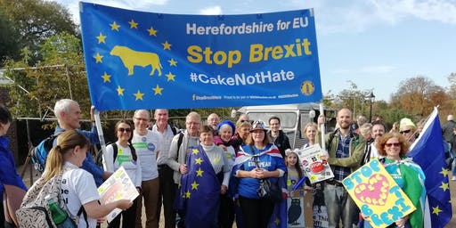 Hereford Coaches for 'PV: Let us be heard!' march London 19th Oct 19