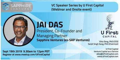 VC Speaker: Sapphire Ventures President and Co-Founder Jai Das tickets