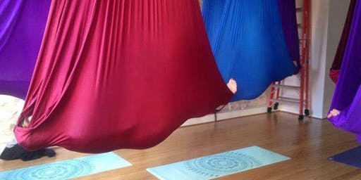 Restorative Aerial Yoga and Healing cocoa ceremony