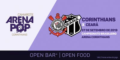 Camarote Arena Pop I Corinthians x Ceará | BBQ + Show