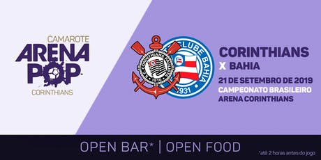 Camarote Arena Pop I Corinthians x Bahia ingressos