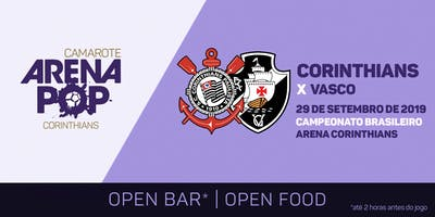 Camarote Arena Pop I Corinthians x Vasco
