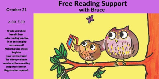 Free Reading Support with Bruce