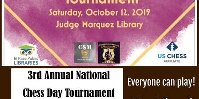 3rd Annual National Chess Day Tournaments