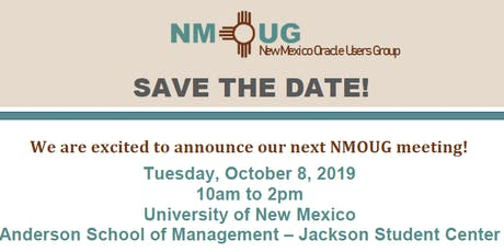 New Mexico Oracle Users Group (NMOUG)Meeting tickets