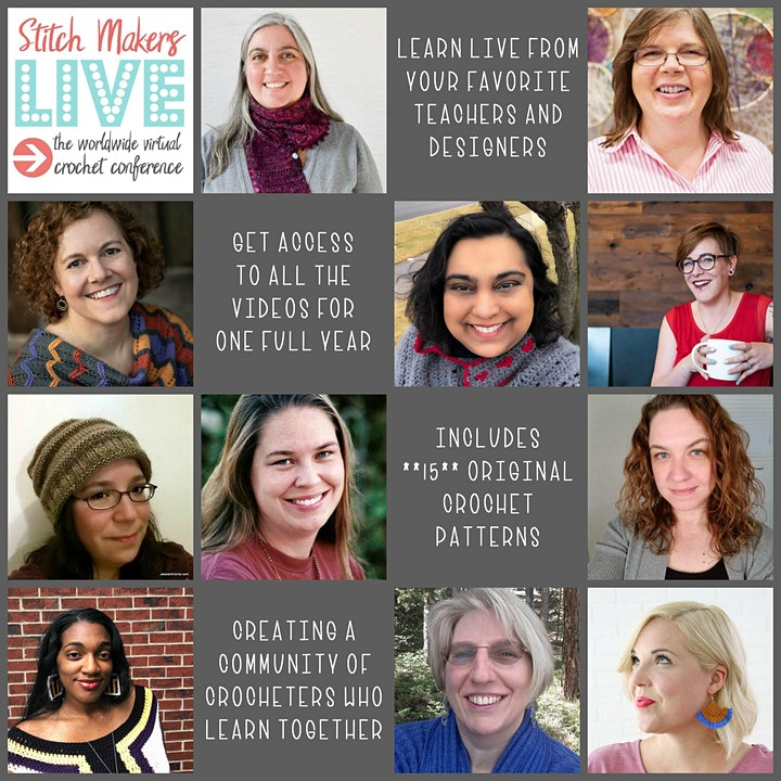 Stitch Makers Live 2019: The Worldwide Virtual Crochet Conference image