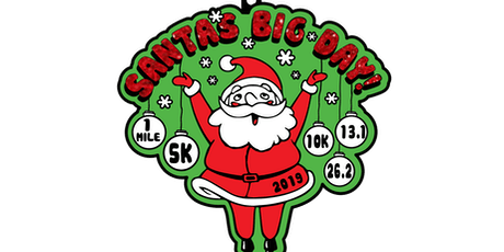 2019 Santa's Big Day 1M, 5K, 10K, 13.1, 26.2-Manchester tickets