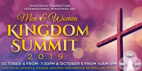 2019 Men & Women Kingdom Summit tickets