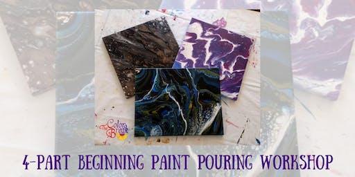 4-Part Beginning Paint Pouring Workshop
