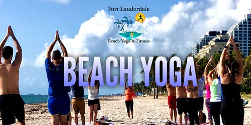 Sunday AM Beach Yoga on Fort Lauderdale Beach