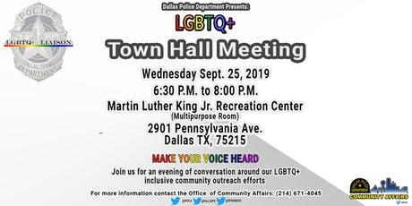 Dallas PD- LGBTQ+ Town Hall Meeting tickets
